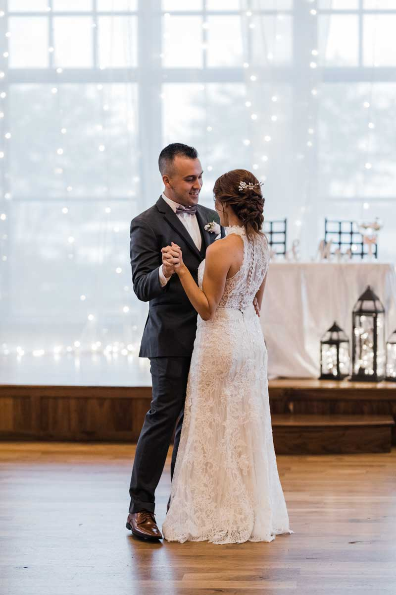 Newlyweds first dance at The Ark in Katy
