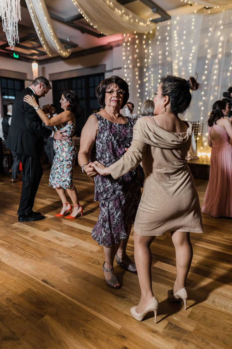 wedding guests dancing at The Ark in Katy