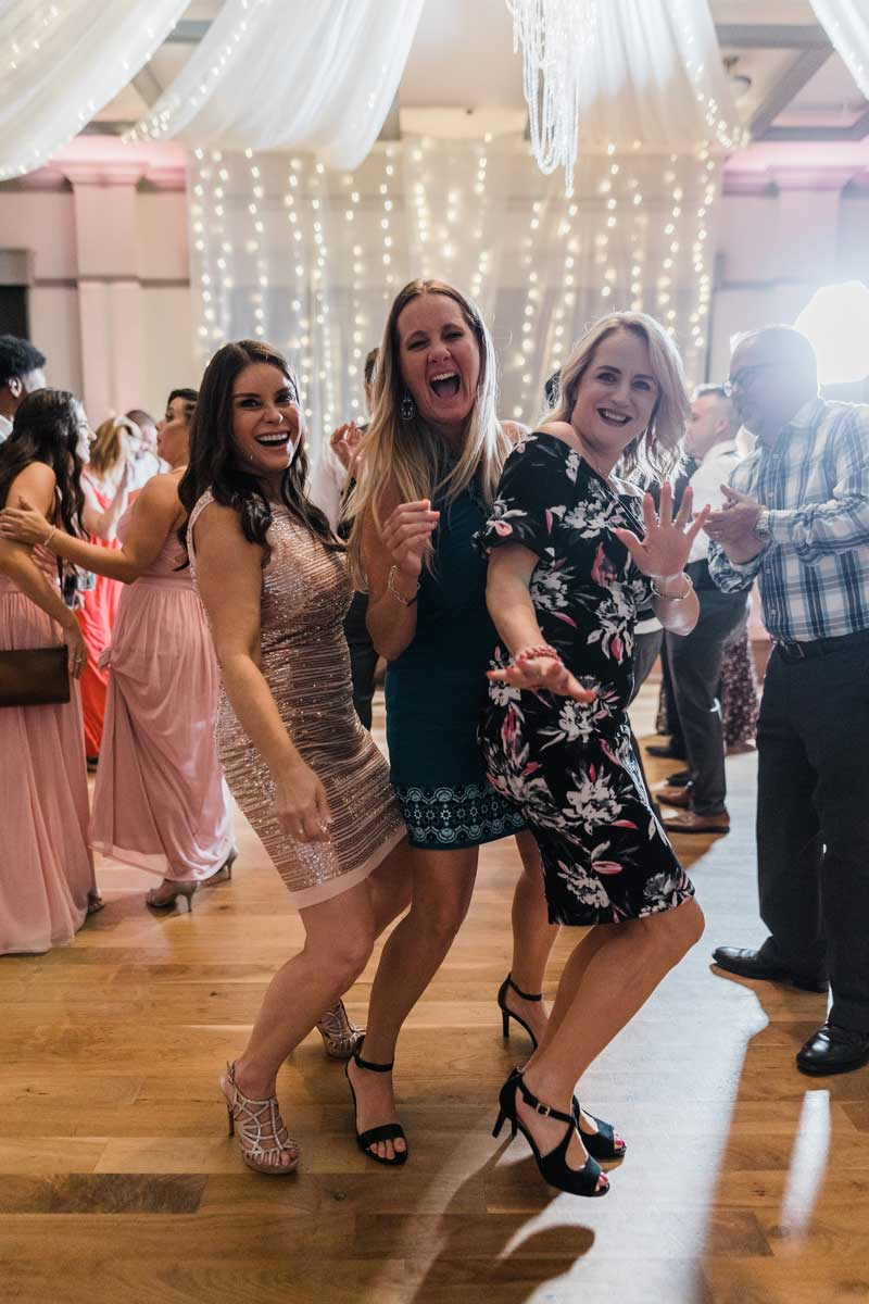 photo of party guests dancing