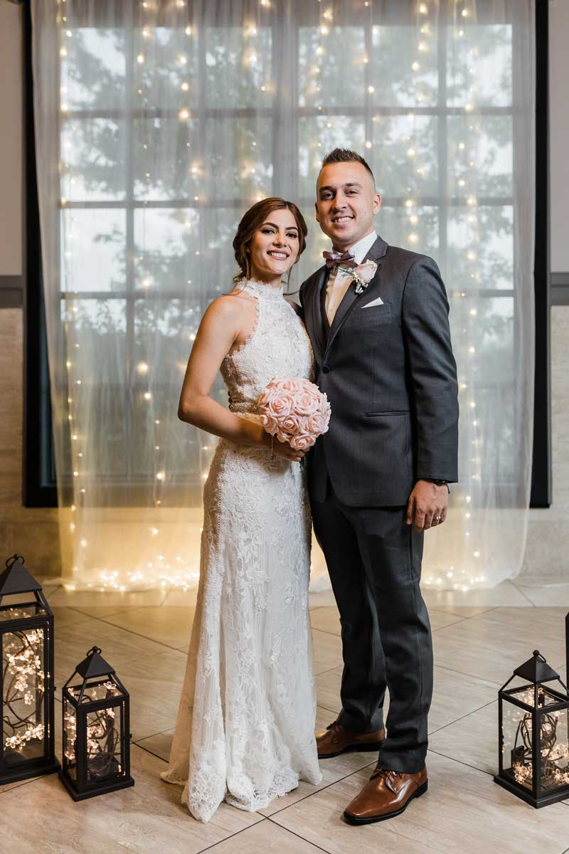 photo of the bride and groom