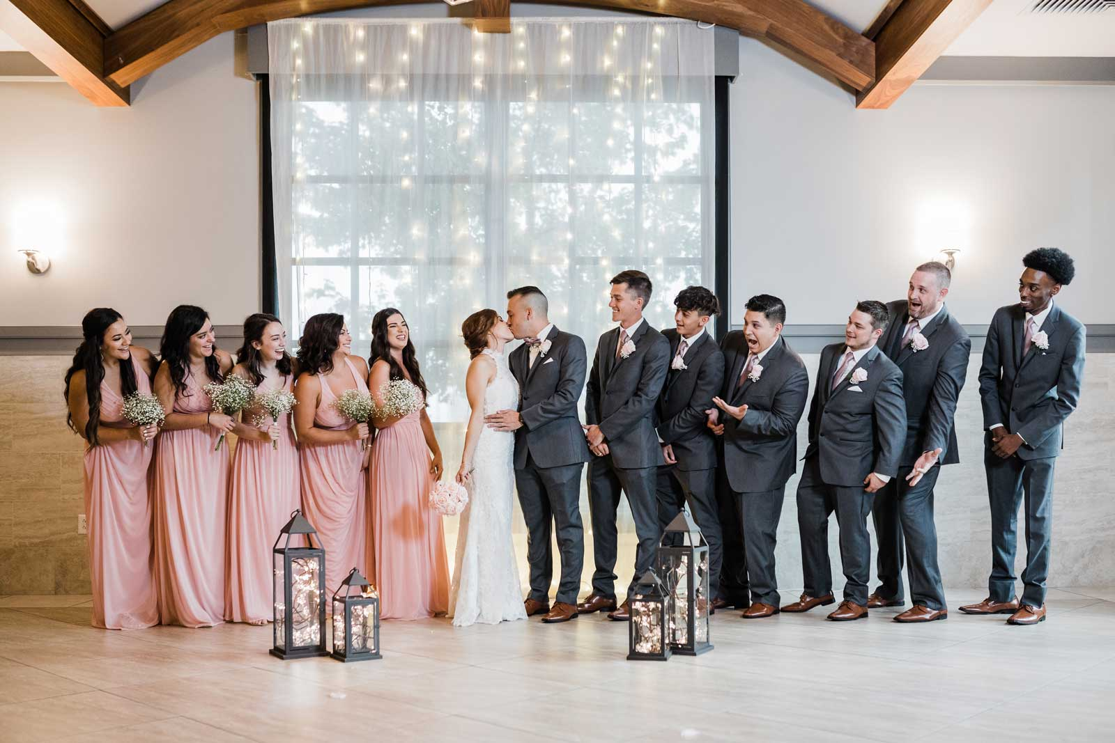 photo of the full wedding party