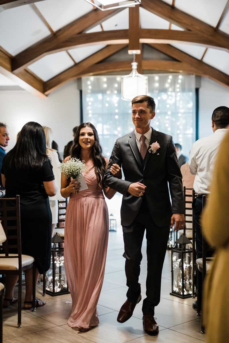 photo of couple at stylish wedding event