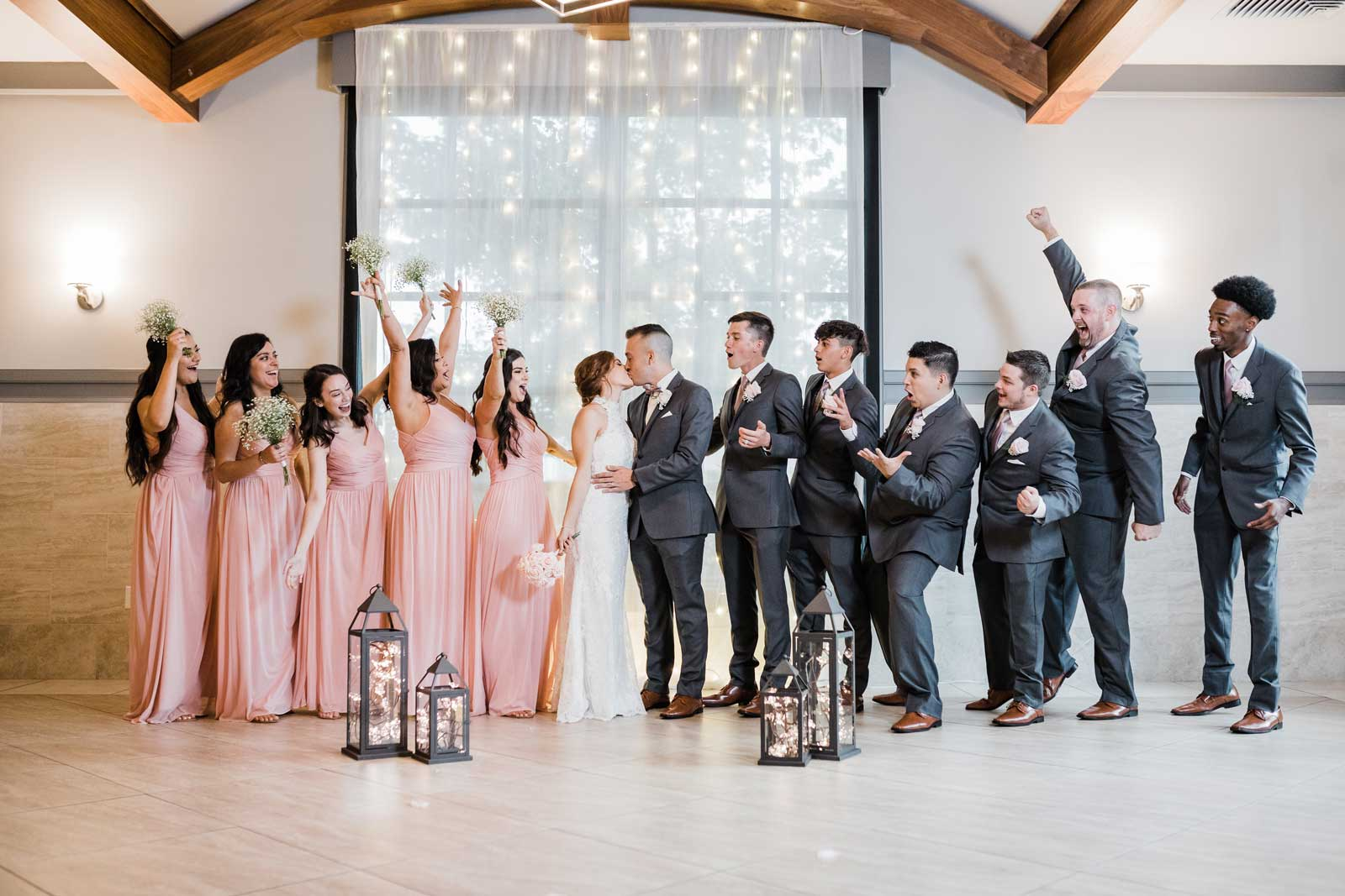 fun wedding party photo at The Ark in Katy