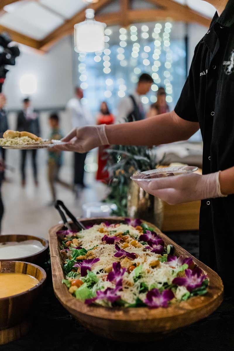 photo of food service during event