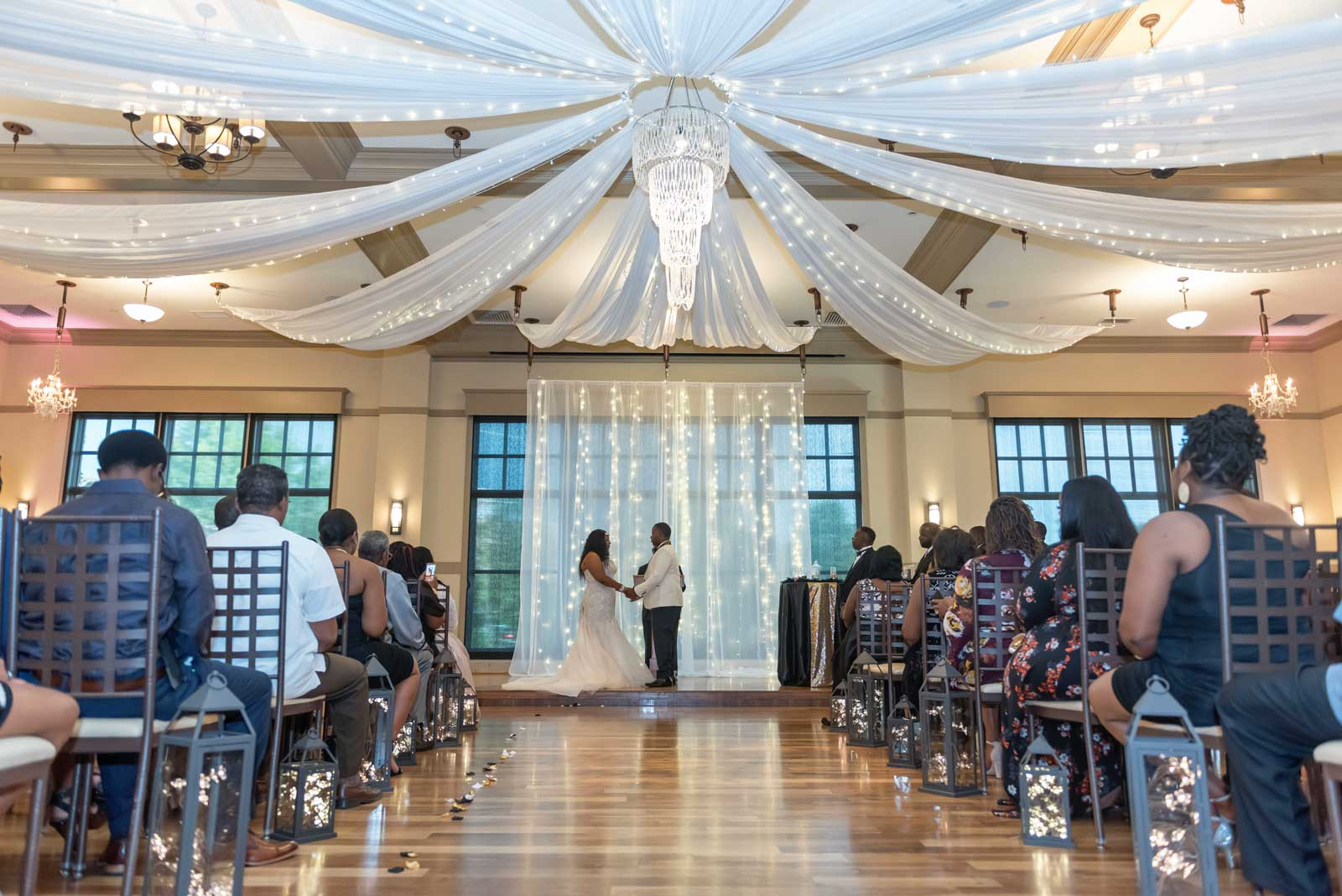 Personalized Service at The Ark provide stunning settings for weddings such as this one.