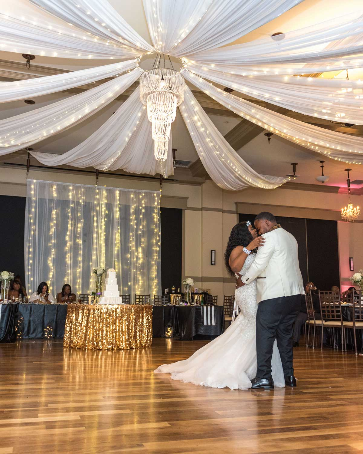 first dance of the bride and groom at The Ark in Katy